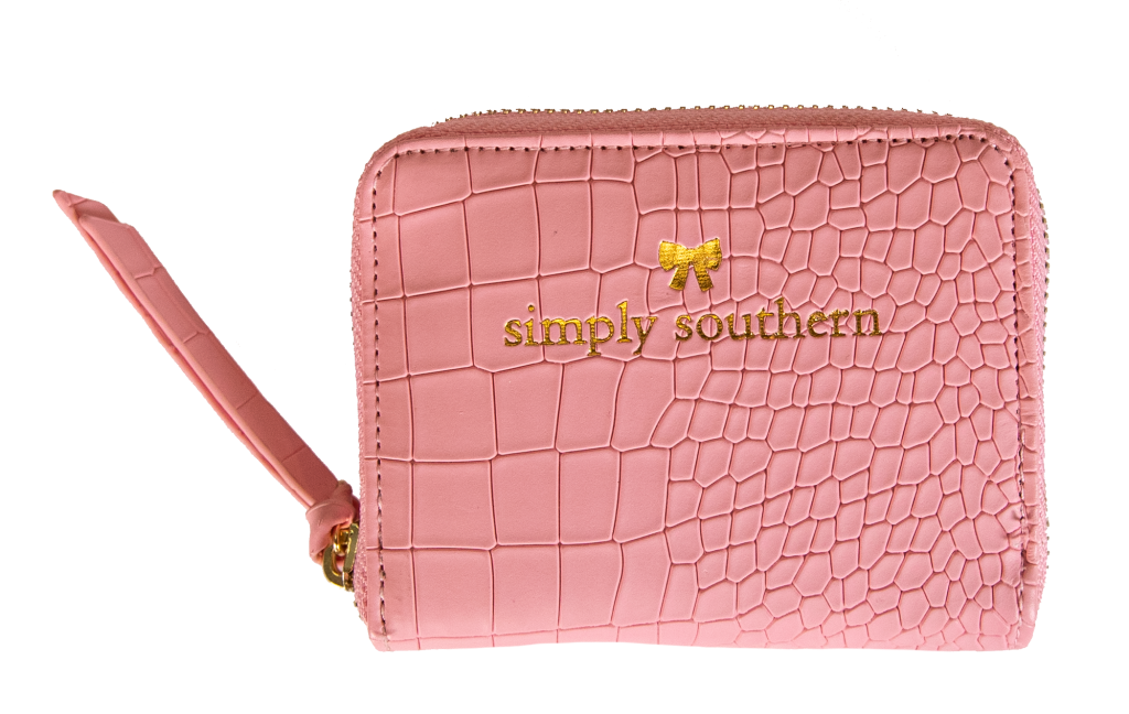 Simply Southern Leather Coin Wallet- Pink