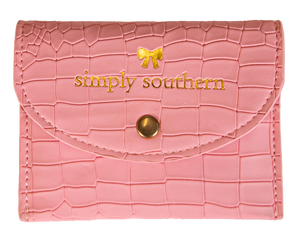 Simply Southern Small Cardholder- Pink