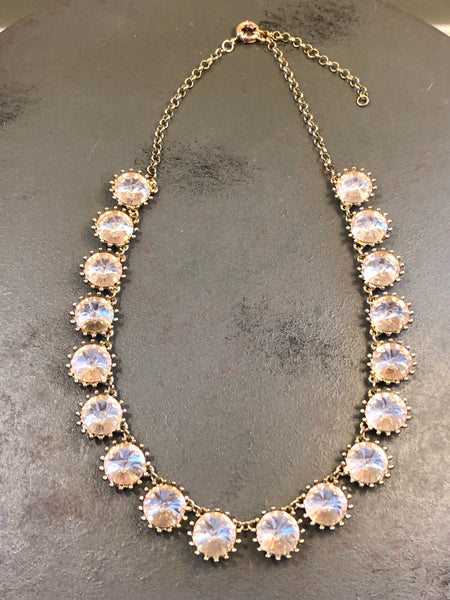 Taylor Rhinestone Statement Necklace