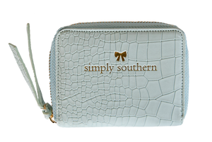Simply Southern Leather Coin Wallet- Blue