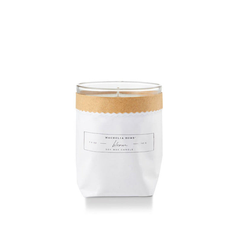 Magnolia Home Kraft Textured Candle- Bloom