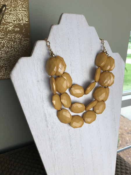 The Helen Triple Strand Statement Necklace