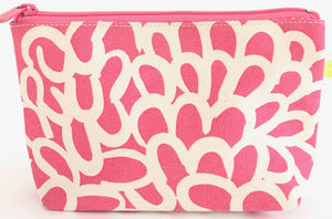 See Design Small Travel Pouch- Clouds Pink