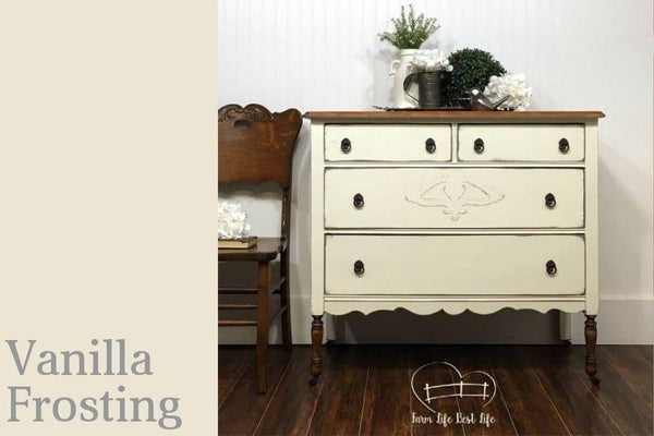 PINT (16 OZ) in Vanilla Frosting - Country Chic Paint - All-In-One Chalk-Style Paint