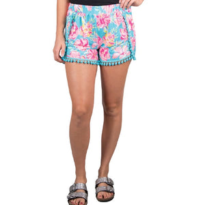 Simply Southern Pom Shorts- Tropic