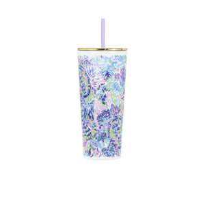 Lilly Pulitzer Tumbler With A Straw Shell of a Party