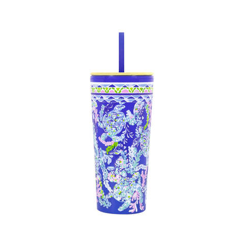 Lilly Pulitzer Tumbler in Turtle Villa