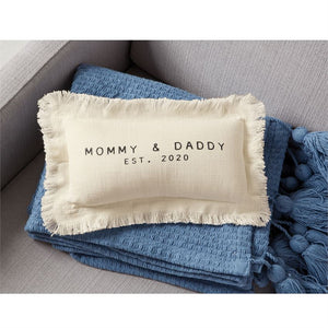 Mommy Daddy Est 2020 Pillow