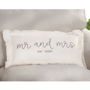 Mr and Mrs Est 2020 Pillow
