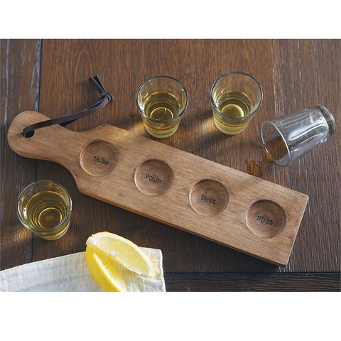 Shot Glass and Paddle Set
