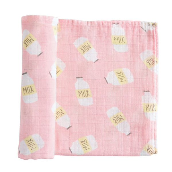 Pink Milk Swaddle Blanket