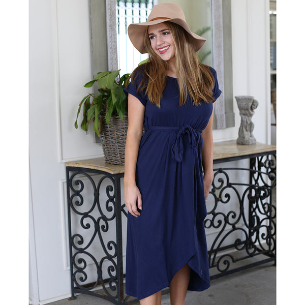 La Romana Wrap Dress in Navy
