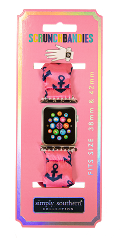 Simply Southern Apple Watch Scrunchie Band - Anchor or Flamingo