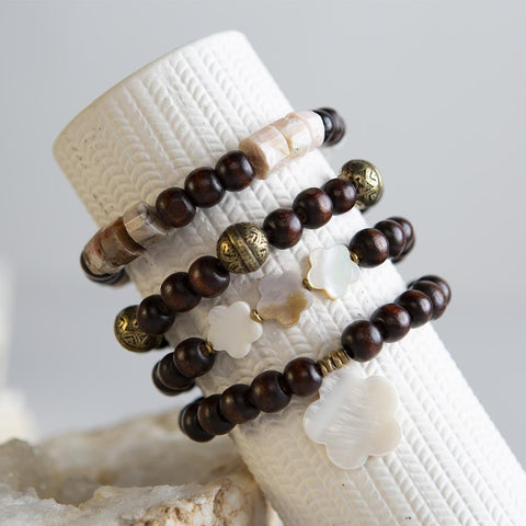 DIY Wood and Shell Bracelet Kit