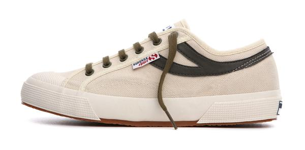 Superga Panatta Ecru-MIlitary Green <br> S00BZP0 - P904
