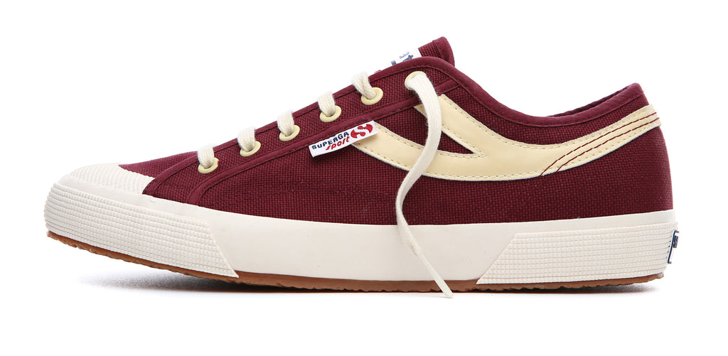 Superga Panatta <br>Dark Bordeaux-Ecru