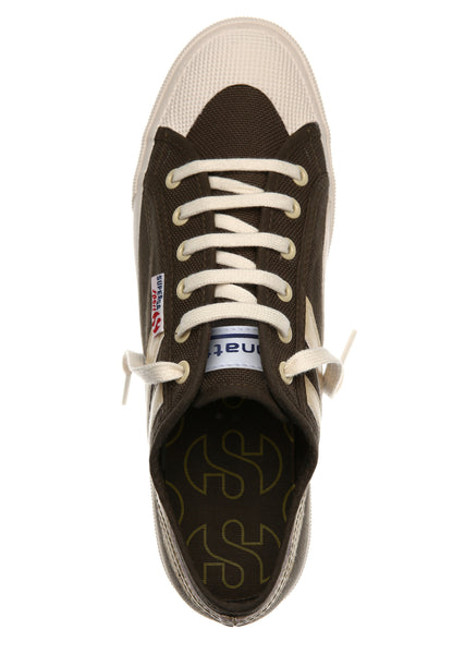 Superga Panatta Military Green-Ecru <br> S00BZP0 - P905