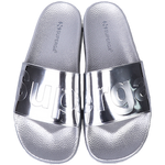 Superga Metallic Slides <br> Silver