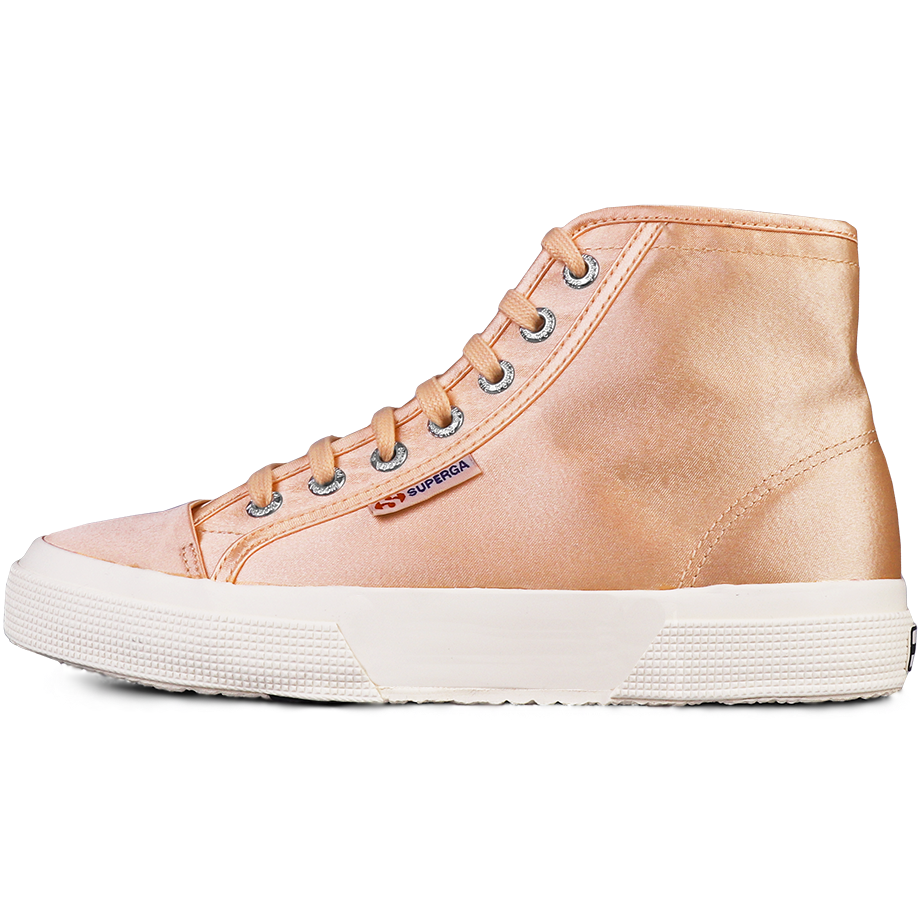 Superga X Alexa Chung 2493 Satin High Cut <br> Ballerina Pink