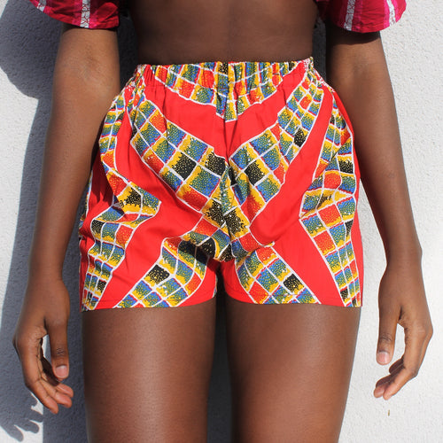 RED LALI SHORTS