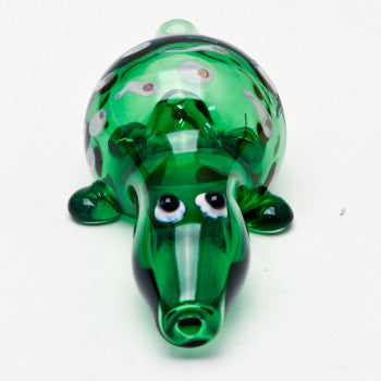Turtle green hand pipe