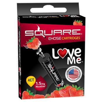 Square E-Hose Cartridge 1.5mg Nicotine 4 Pack - Love Me