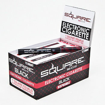 Square E-cig Clove.Cinn 18mg. BLACK
