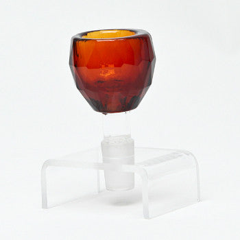 14 Gauge amber crystal bowl
