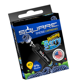 Square E-Hose Mini Cartridge 4 Pack - Yummy Berry Zero Nicot