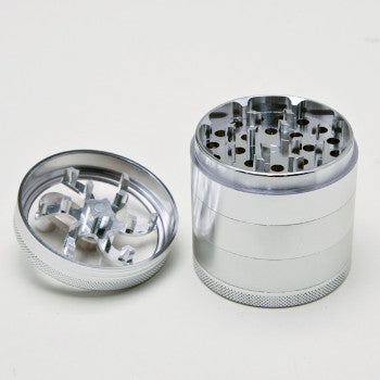 E.Z. INGRINDIN  5 PC GRINDER WITH HANDLE SILVER