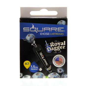 Square E-Hose Cartridge 1.5mg Nicotine 4 Pack - Royal Dagger