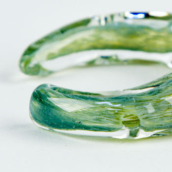 Green Frit Bracelet hand pipe SMALL