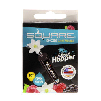 Square E-Hose Cartridge 4 Pack - Island Hopper Zero Nicotine