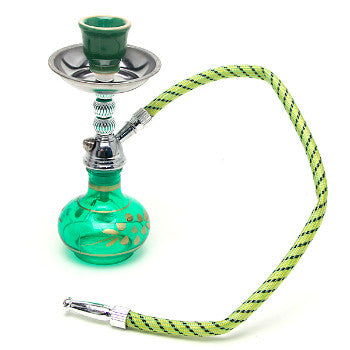 "7.5"" Tall Mini Hookah Green"