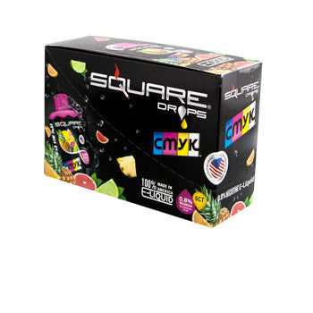 Square Drops 6 Ct Box - CMYK 8mg