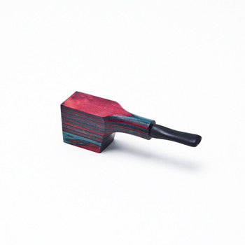 Pipe Wooden Multicolor w. Cap