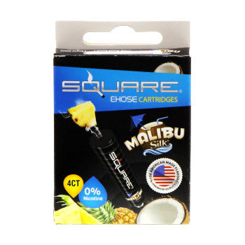 Square E-Hose Cartridge 4 Pack - Malibu Silk Zero Nicotine