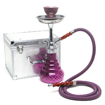 Zahrah Modern Base Hookah Purple