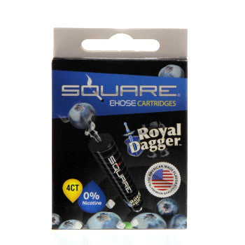 Square E-Hose Cartridge 4 Pack - Royal Dagger Zero Nicotine