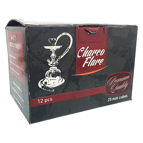 Charcoal 1-inch Full Cubes 12 cubes per box