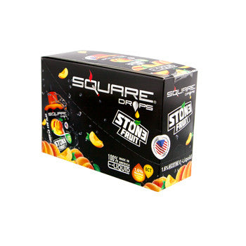 Square Drops 6 Ct Box - Stone Fruit 16mg