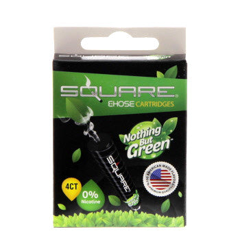Square E-Hose Cartridge 4 Pack - Nothing But Green Zero Nico