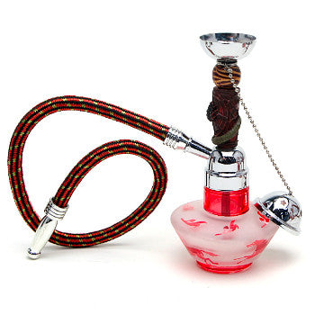 7IN Assorted Hookah Red
