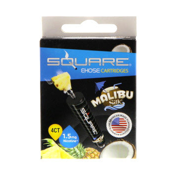 Square E-Hose Cartridge 1.5mg Nicotine 4 Pack - Malibu Silk