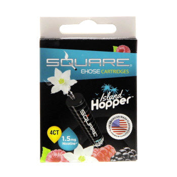 Square E-Hose Cartridge 1.5mg Nicotine 4 Pk - Island Hopper