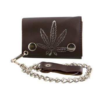 Double Fold Wallet  W/ Chain