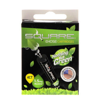 Square E-Hose Cartridge 1.5mg Nicotine 4 Pack - Nothing But
