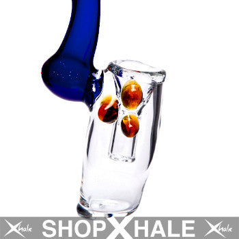 Colored Handle Concentrate Bubbler Blue