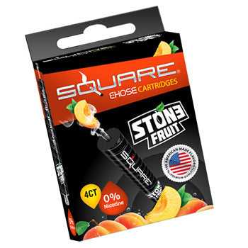 Square E-Hose Cartridge 4 Pack - Stone Fruit Zero Nicotine