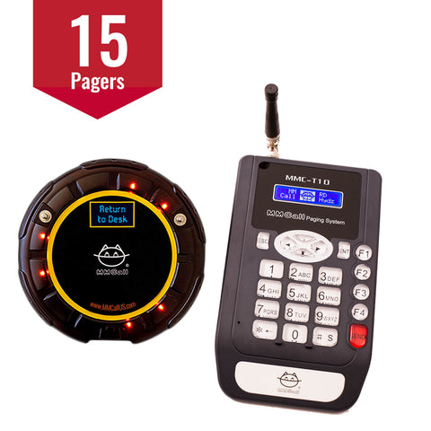 15-Pager Guest Paging System with Messages